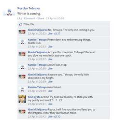 Akashi using Game of Thrones pickup lines.