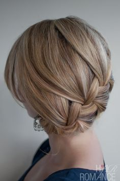 Hair Romance - 30 braids 30 days - 15 - the French braid side bun