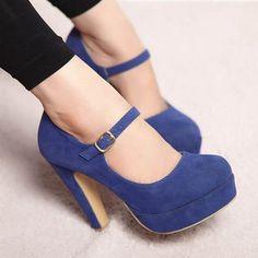 Blue High Heel Pump - http://ikuzoladyshoes.com/blue-high-heel-pump/