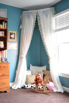 Kids Canopy Tent Reading Nook | Kids Room | Toddler Room | DIY Gift | Birthday…