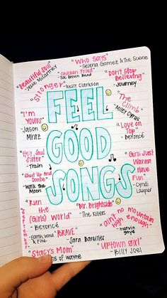 Ultimate List of Bullet Journal Ideas: 101 Inspiring Concepts to Try Today (Part - Simple Life of a Lady Thirsting for more bullet journal ideas? Here's the second installment of Ultimate List of Bullet Journal Ideas! Get your bullet journals ready! Music Mood, Mood Songs, Upbeat Songs, Good Vibe Songs, Music Life, Live Music, Bullet Journal Inspo, Bullet Journal Ideas Pages, Bullet Journals