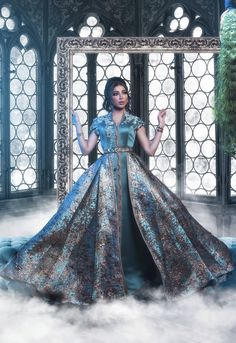 Visit the post for more. Abaya Style, Kaftan Gown, Arabic Dress, Fairytale Fashion, Arab Fashion, Moroccan Caftan, Indian Dresses, Traditional Dresses, Dream Dress
