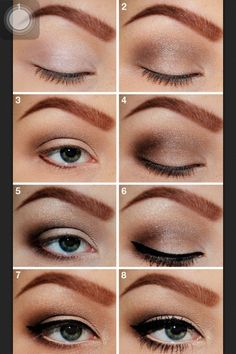 Smokey eye steps