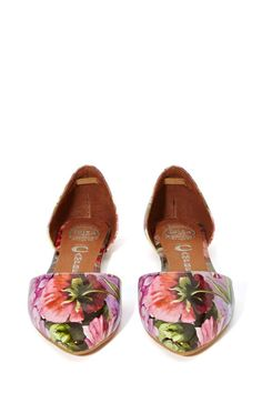 Jeffrey Campbell In Love Flats - Floral<3