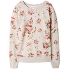 Print-sweatshirt ($15) ❤ liked on Polyvore featuring tops, hoodies, sweatshirts, pink top, patterned sweatshirts, sweat shirts, print top and pink sweat shirt