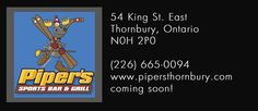 Piper's Bar & Grill Thornbury - Nice outdoor patio right on the Georgian Trails System! Ride your bike and stop in for a snack! Bar Grill, Blue Mountain, Georgian, Restaurants, Bike, Patio, Outdoor, Fire Pit Grill, Diners