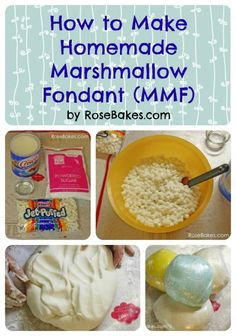 How to Make Homemade Marshmallow Fondant Tutorial Step-by-Step Instructions ~ The post includes notes (just below here) that are important, then the step-by-step photo tutorial for making the fondant, then a FAQ section at the bottom!