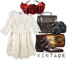 """Vintage Chic."" by hippierose on Polyvore"