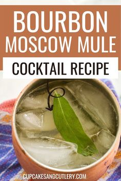 Make a Bourbon Moscow Mule! This quick and easy cocktail is a yummy twist on the classic Mule. The bourbon adds flavor and makes this a tasty and refreshing recipe any time of year. Easy Cocktails, Cocktail Recipes, Moscow Mule Variations, Non Alcoholic Drinks, Beverages, Cool Mom Style, Moscow Mule Recipe, Ginger Beer, Strawberry Recipes