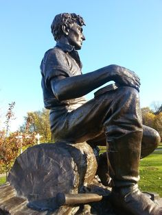 The Young Lincoln statue. Best Places To Camp, Camping Places, Places To Go, Abraham Lincoln, Delaware Park, Buffalo New York, Gettysburg, Pacific Northwest