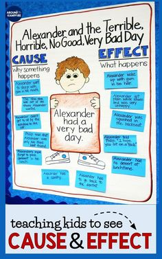Cause and Effect With Alexander and the Terrible, Horrible, No Good, Very Bad Day