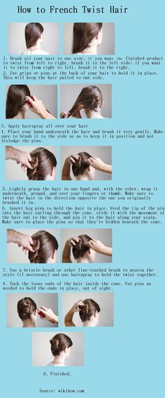 How to French Twist Hair   Hairstyles and Beauty Tips