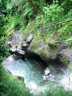 Canopy tours over 11 waterfalls with 25 zip lines in Costa Rica.