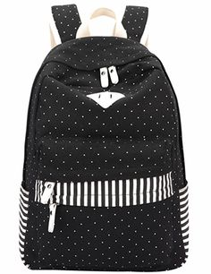 Amazon.com: Leaper Casual Style Lightweight Canvas Backpacks School Backpack (Large, Water Blue+Flower): Clothing