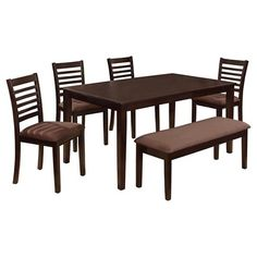 Furniture Of America Austin 6 Pieces Dining Table Set