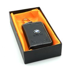 iNewcow Black Superior Leather Car Key Chain Auto Remote Control Zipper Case Coin Holder With A Gift Card (BMW) ** Visit the image link more details.