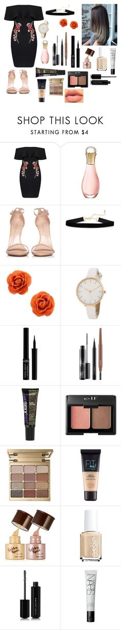 Untitled #194 by jen-moon on Polyvore featuring Stuart Weitzman, NOVICA, Charlotte Russe, Giorgio Armani, Stila, MAC Cosmetics, NARS Cosmetics, Maybelline, Marc Jacobs and Christian Dior