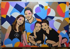 Specialist in Pop Art, check out some videos of the Lobos working in the his studio of art.   Family Portrait, Paintings, Pop Art, Family Portrait Ideas, Art, Artist