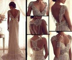 Lace backed Wedding Dress via weheartit.com