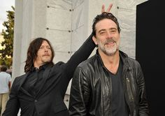 Talking Dead Season 7 Episode 1 'The Day Will Come When You Won't Be' - Norman Reedus (Daryl Dixon) and Jeffrey Dean Morgan (Negan)  Photo by John Sciulli/AMC