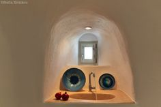 kitchen detail, cave house, tradition, private villa, mesaria, santorini
