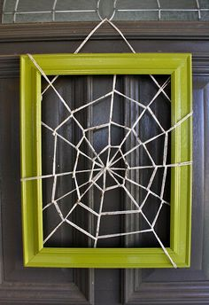 spider web frame #upcycling #halloween ideas