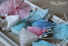 Russian, Stariy Chemodan creates these adorable, cute and whimsical wire and paper napkin ballerinas! Great for Christmas decorations, mob. Cute Crafts, Easy Crafts, Easy Diy, Crafts For Kids, Tissue Paper Art, Diy Paper, Paper Crafts, Crepe Paper, Baby Nap Mats