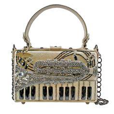 Mary Frances Hear the Call Trumpet Music Gold Beaded New Handbag Purse Bag New #MaryFrances #EveningBag