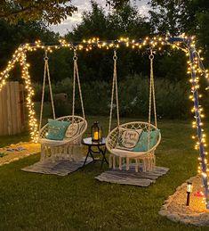 Backyard Patio Designs, Backyard Projects, Outdoor Projects, Garden Projects, Backyard Ideas For Kids, Backyard Pool Landscaping, Backyard Swings, Garden Swings, Outdoor Patio Swing