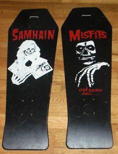 Plan 9 decks misfits samhain Astro Zombies, Longboard Cruiser, Danzig Misfits, Skateboard Deck Art, Vintage Skateboards, Skate Art, Skate Decks, Longboards, Thrasher