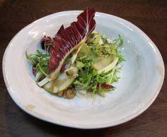 Trevise & gorgonzola salad w caramelised walnuts, pears & sweet sticky balsamic Caramelized Walnuts, Jamie's Italian, Pears, Tuna, Salad, Fish, Sweet, Candy, Pisces