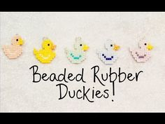 DIY Beaded Rubber Duck Square Stitch Charm Tutorial ¦ The Corner of Craft - YouTube