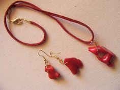 foto hand made jewels  Φωτεινή Μάμαλη: Μενταγιόν και σκουλαρίκια με πανέμορφα κοράλλια! Personalized Items, Earrings, Jewelry, Fashion, Ear Rings, Moda, Stud Earrings, Jewlery, Jewerly