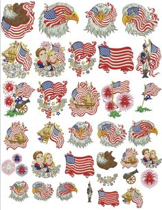 Bundle- Star Spangled Spirit-Sew Swell Designs-Purchase $1+ in designs & receive the full Star Spangled Spirit set for Free- One Day Only
