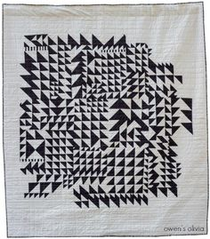 The Quilts of Quiltcon 2016 (Fancy Tiger Crafts) Quilting Projects, Quilting Designs, Sewing Projects, Quilt Design, Op Art, Gees Bend Quilts, Tiger Crafts, Flying Geese Quilt, Black And White Quilts