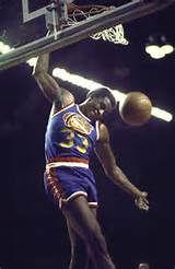 Denver Nuggets David Thompson in action making dunk vs Chicago Bulls ...