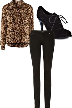 """Leopard Print Top"" by bombisita on Polyvore"