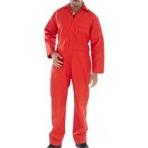 Click Fire Retardent Boiler Suit Overalls Red