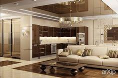 Дизайн квартиры в стиле ар-деко: интерьер, квартира, дом, гостиная, ар-деко, 30 - 50 м2 #interiordesign #apartment #house #livingroom #lounge #drawingroom #parlor #salon #keepingroom #sittingroom #receptionroom #parlour #artdeco #30_50m2 arXip.com