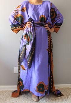 A personal favorite from my Etsy shop https://www.etsy.com/listing/235162578/sale-saleafrican-kaftan-purple-dress