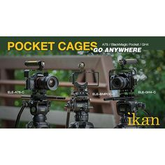 The Elements Cage Series is has compatibility with the a7S, BMPCC, and GH4 cameras! Don't miss out on great gear for the new year! :star::star::star: #cameracage #gh4 #a7s #bmpcc #sony #panasonic #blackmagic #ikan #ikancorp #filmmaking #gear #production #