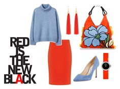 """""""red"""" by oksana-bonjour ❤ liked on Polyvore featuring Boutique Moschino, Jimmy Choo, Marni and Christian Dior"""