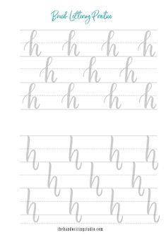 Lettering Worksheets, modern calligraphy Worksheets, Brush Calligraphy Printable brush calligraphy and hand lettering worksheets Brush Lettering Worksheet, Calligraphy Worksheet, Lettering Guide, Hand Lettering Practice, Hand Lettering Alphabet, Calligraphy Practice, Handwriting Practice, Modern Calligraphy, Handwriting Fonts