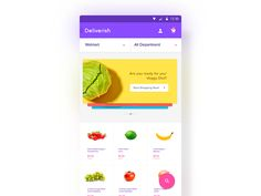 Deliverish - Grocery Store App by Aryana Shakibaei