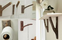 hooks made from branches