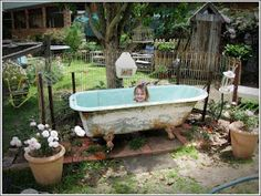 Outdoor bathtub--can I have one of these?