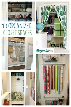 Closet spaces can be beautiful and organized!  Organizational systems can lighten our load and provide a little eye candy!   Here are 10 closet spaces that you can create for your own home!