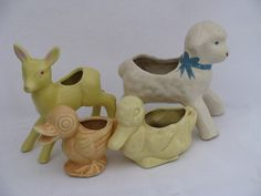 Image detail for -Photo of lot vintage pottery animal planters, Easter ducks, lamb for ...