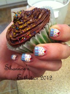 my beautiful cupcake nails by shannon