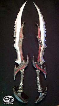 Skyrim Daedric Schwert Videospiel Kostüm Prop Waffe EVA Foam Build … – Nilton Cesar – Join the world of pin Ninja Weapons, Cosplay Weapons, Anime Weapons, Skyrim Cosplay, Halo Cosplay, Armas Ninja, Swords And Daggers, Knives And Swords, Maquillage Phosphorescent